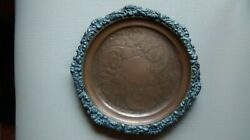 Vintage/ Antique Arts And Crafts Copper And Pewter Calling Card Tray / Footed Plate