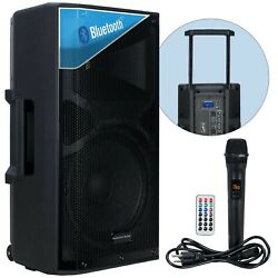American Dj Apx12 Go Bt 12 Portable Battery Powered Active Bluetooth Pa Speaker