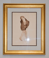 1904 Auguste Rodin Aquatint Etching Nude Wearing A Shawl Limited Signed Coa