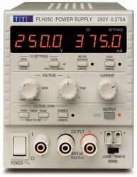 Tti Plh250 Single 0-250v/0-0.375a Higher Voltage Linear Dc Bench Power Supply