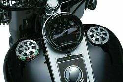 Kuryakyn 7381 Alley Cat L.e.d. Fuel And Battery Gauge Chrome Harley And03991 - And03919