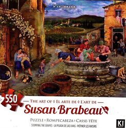 Stomping The Grapes 550 Piece Puzzle - Susan Brabeau