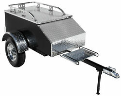 Pull Behind Motorcycle Trailer Aluminum Enclosed Used For Tow Cargo