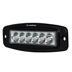 Heise 6 Led Single Row Driving Light Flush Mount Rv Auto Boat Boating Truck New