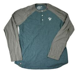 LRG Lifted Research Group Mens No Pressure Henley Shirt New 2XL $9.99
