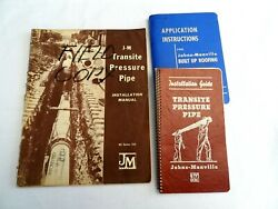 Johns-manville Transite Pressure Pipe Manual Built Up Roofing Roof Asbestos