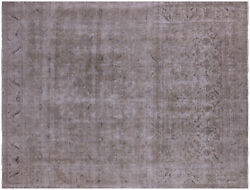 9and039 5 X 12and039 4 Vintage Handmade White Wash Area Rug - Q4628