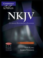 Holy Bible New King James Version, Clarion Reference, Brown, Calfskin, Nk48...