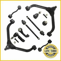 10x Suspension Kit Sway Bar Tie Rod Control Arm For 2002 2003 2004 Jeep Liberty