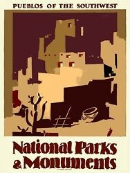 Decoration Poster.Pueblos Park.Wall art.Travel shop.Dorm Interior design.11395