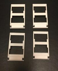 Guess Who Board Game 1987 Version Replacement White Frames Lot Of 4