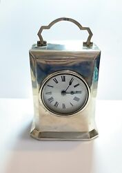 Antique Rare Charles And Richard Comyn Silver Carriage Clock J.c. Vickery