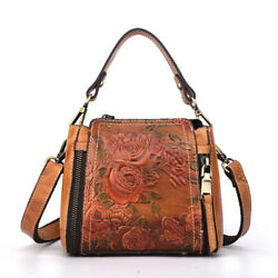 Vintage Leather Handbag for Women Ladies Messenger Crossbody Shoulder Handbags $42.99