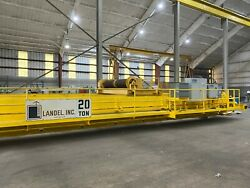 Landel 20 ton overhead bridge crane - double girder - can be run in place