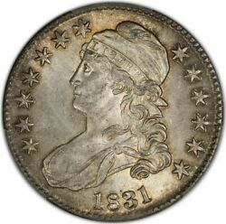 1831 50c Capped Bust Half Dollar Pcgs Ms62+ Cac