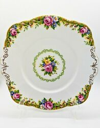 Lovely, Double-warrant, Tapestry Rose, Paragon Handled Cake Plate.
