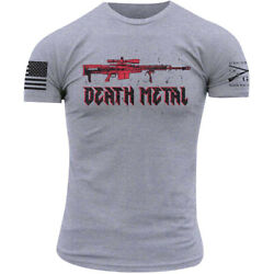 Grunt Style Death Metal T-Shirt - Heather Gray $20.16