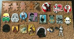 Rare Lot Of 23 Different Star Wars Disney Trading Pins Yoda Holiday Storm Sw