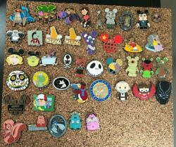 Lot Of 42 Disney World Assorted Trading Pins Authentic Marvel Star Wars