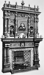 Chimney-piece, Hanging Cabinet, Table 1878 Johnstone, Jeanes Victorian Print
