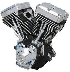 Ultima 113 Twin Cam A Competition Black Replacement Engine Motor Harley 99-06