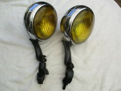 1934 1938 Gm Guide B-l-c Fog Lights With Brackets All Cars And Trucks
