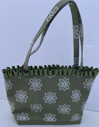 New Janet Gray Designs Bag Sage Green Fabric Purse $29.95