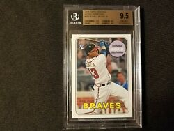2018 Acuna Topps Heritage Action Variation 580 Rc Bgs 9.5 Ssp - Very Rare