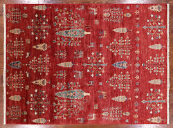 5and039 1 X 6and039 9 Willow And Cypress Tree Gabbeh Hand Knotted Area Rug - Q3090