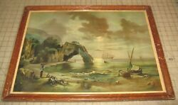 Coast Of Italy C1894 Home Art Picture Company Chicago 22 X 16 Color Print