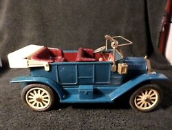Vintage Tin Wind-up F-1908 Touring Car 9.5 Made In Japan