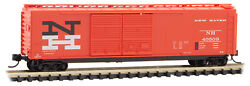 Micro-trains Mtl N-scale 50ft Double Door Box Car New Haven/nh Orange 40509