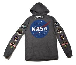Buzz Aldrin Mens NASA Patches Design Hoodie New S $14.99