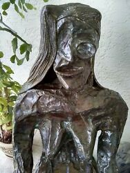 Life Size All Copper Sculpture, Welded With Silver Rods..