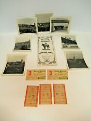Vintage 1948 Churchill Downs Photos, Program And Ticket Stub Collection
