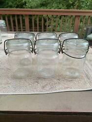 Vintage Atlas E Z Seal Pint Canning Jars Set Of 6