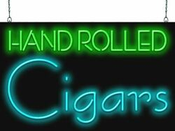 Hand Rolled Cigars Neon Sign | Jantec | 2 Sizes | Smoke Shop Tobacco Store Vapor