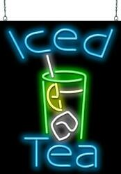Iced Tea Neon Sign   Jantec   24 X 30   Iced Coffee Espresso Cold Blended Cafe