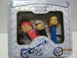 Orange County Choppers Pez Collectible Tin With Paul Jr Paul Sr Mikey New