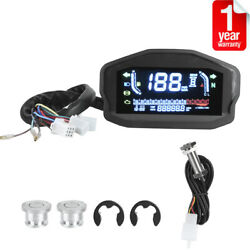 Dc8-12v Motorcycle Lcd Speedometer Universal Digital Odometer For 1/2/4 Cylinder