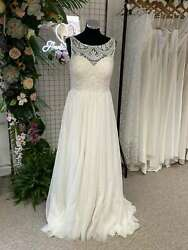 Kenneth Winston 1804 Boho Wedding Dress A Line Crochet And Tulle 12 Rrp Andpound1175