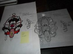2 Lot Original Art Looney Tunes Sylvester The Cat And Tweety Bird Fastfood Toy