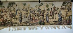 Beautiful Vintage Biblical Tapestry In Excellent Condition .. 58 x 19
