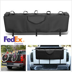 53 Pickup Bed Tailgate Crash Pad Protector Cover W/bike Racks With Tool Pocket