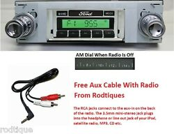 1968-1969 Ford Torino Radio W/ Free Aux Cable + 230 Stereo Custom Fit Dash