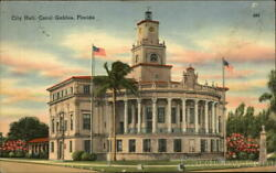1950 Coral GablesFL City Hall Miami-Dade County Florida Miami Post Card Co.