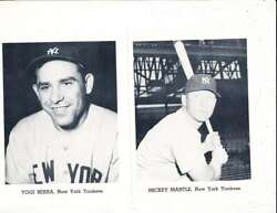 1962 New York Yankees Picture Pack Set Mickey Mantle Roger Maris