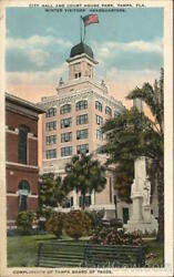 TampaFL City Hall and Court House ParkWinter Visitors' Headquarters Florida
