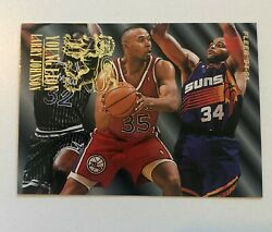 Fleer 94-95 Larry Johnson Young Gun Misprint With Shaq And Barkley On Front