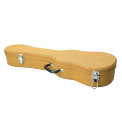 New 26 Deluxe Tenor Ukulele Hard Case Artificial Leather Yellow Us Stock